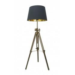 LAMPA STOJĄCA SEVILLE, seville, TS-062909F-BR Zuma Line, nowoczesne, lampy stojące, do salonu, czarny abażur, oryginalne, sevill
