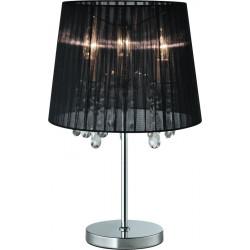 CESARE ZumaLine, LAMPA STOŁOWA CZARNA, BLACK, 003064-001697, RLT94350-3B, lampka nocna, czarna lampka nocna, dekorplanet,