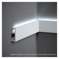 LISTWY PRZYPODŁOGOWE OŚWIETLENIOWE, QL019 MARDOM DECOR, LIGHT GUARD LISTWA LED, LISTWY PRZYPODŁOGOWE LED, LISTWY MARDOM DECOR