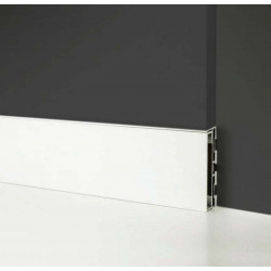 ukryte listwy przypodłogowe, Profilpas LPW102, Listwy wpuszczane w ścianie, listwa przypodłogowa ukryta biała Ral 9010, listwa p