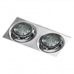 Lampa IVO SQUARE 2 GM2201S white / aluminium IP20 Azzardo