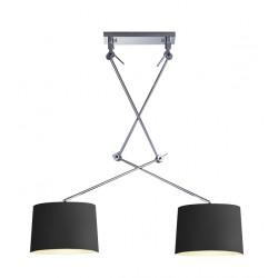 Lampa ADAM 2 S BLACK PENDANT MD2299-2S black/apricot Metal/fa Azzardo