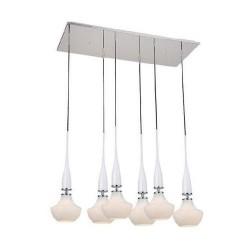Lampa TASOS 6 pendant MD2095-6W metal/glass chrome/whi Azzardo