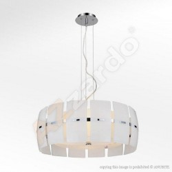 Lampa TAURUSpendant MD 2050-4W white glass/chrome Azzardo